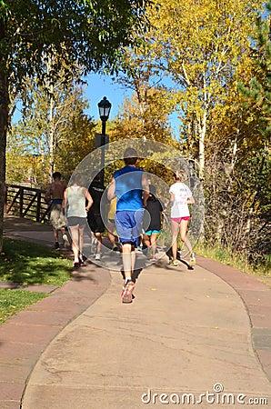 Teens Jogging Editorial Image