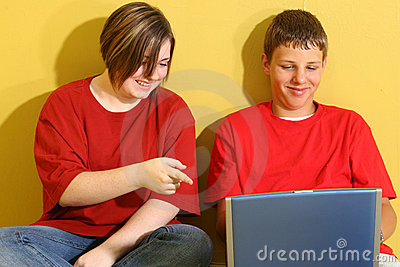 Teens with Laptop