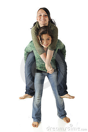 Teens Piggybacking