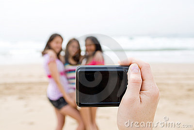 Teens posing for photo