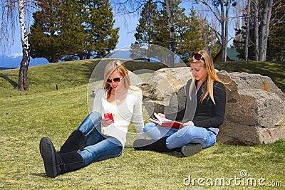 Teens Relaxing in Park