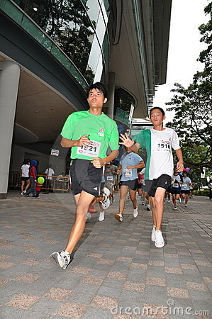 Teens running at CAN! run Editorial Stock Photo