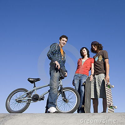 Teens At Skatepark Stock Photos - Image: 5039043