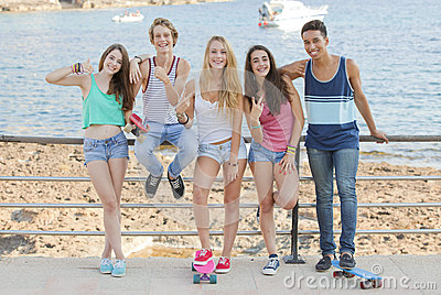 teens on student vacation