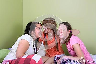Teens telling secrets