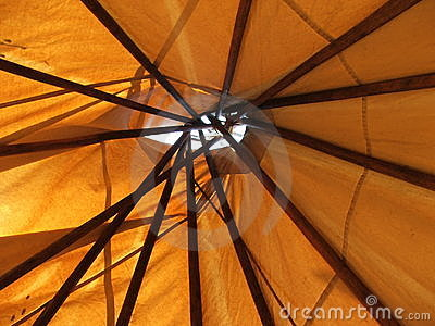 Teepee Ceiling- through the roof