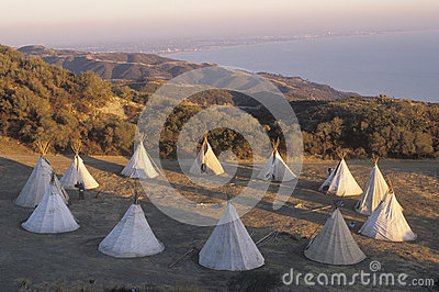 Teepees in a circle