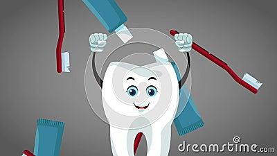 Teeth Cartoon And Dental Hygiene Hd Animation Stock Footage Video Of Clinic Medical 117985268