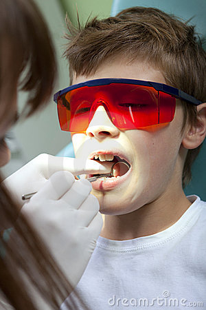 Teeth checkup at dentist s office