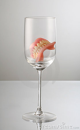 Teeth on glass