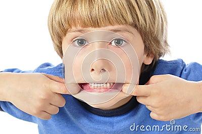 Teethy funny face