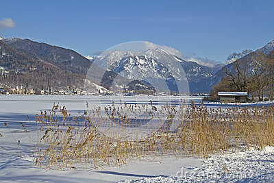 Tegernsee - lake in wintertime