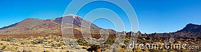 Teide volcano on a sunny day