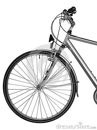 Teil des Fahrrades getrennt (Ausschnittspfad)