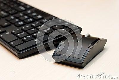 Teile von einem Personal-Computer: Maus, Tastatur