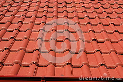 tejado con los tejados rojos foto de archivo imagen