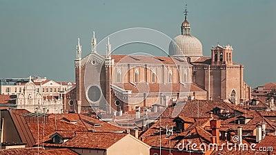 Tejados en la opini?n de Venecia desde arriba metrajes