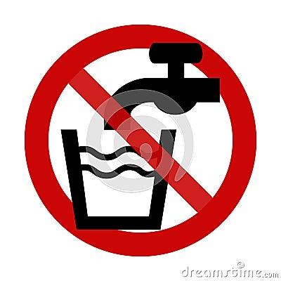Teken: Geen Drinkwater