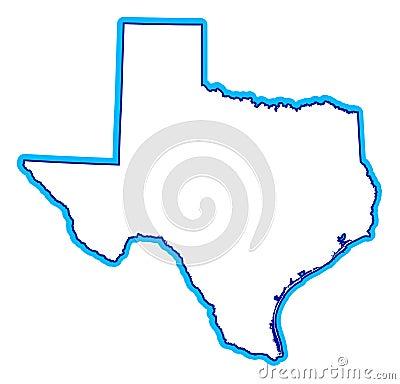 Tekening van staat van Texas