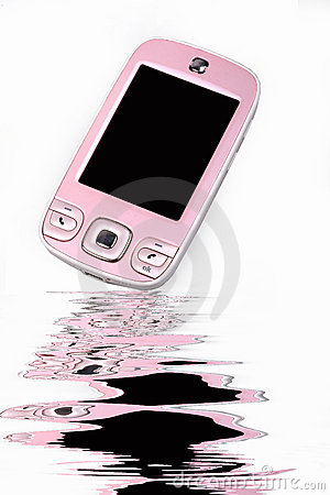 Teléfono celular de moda.