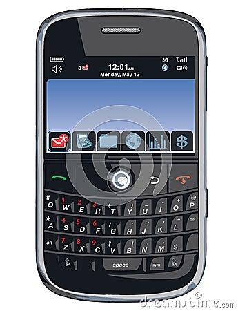 Teléfono celular del vector/PDA/zarzamora Imagen editorial