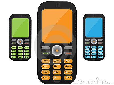 Teléfono celular negro