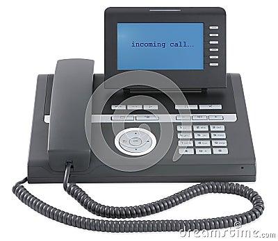 Tel fono negro moderno de la oficina de asunto for Telefono de oficinas