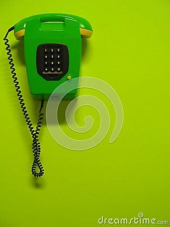 Teléfono verde