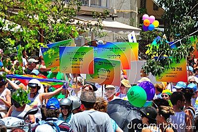Tel Aviv 2010 Gay Parade Editorial Stock Photo