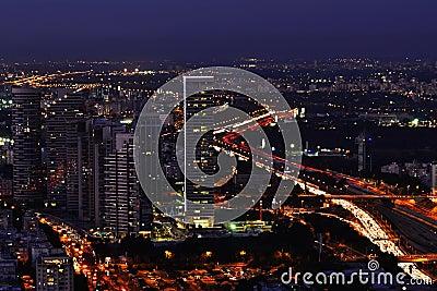 Tel-Aviv cityscape at night