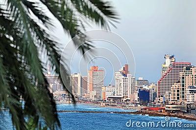 Tel Aviv coastline Editorial Photography