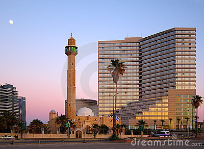 Tel Aviv at Dusk, Israel Editorial Stock Image