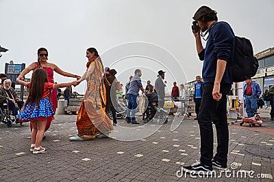 Tel Aviv - 20 February 2017: Hare Krishna devotees celebrating d Editorial Photo