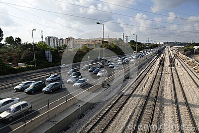 De Spoorweg van het spitsuur Redactionele Stock Foto