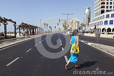 Summer at the Beach in Tel-Aviv Editorial Stock Photo