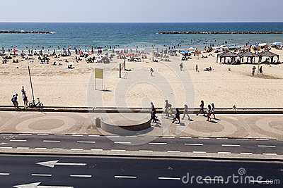 Summer at the Beach in Tel-Aviv Editorial Photo