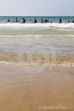 Summer at the Beach in Tel-Aviv Editorial Stock Image