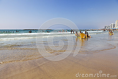 Summer at the Beach in Tel-Aviv Editorial Photography
