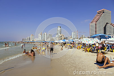 Summer at the Beach in Tel-Aviv Editorial Image