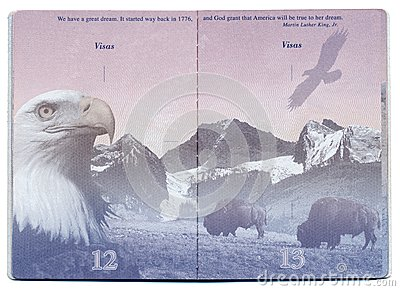 USA Passport Blank Page