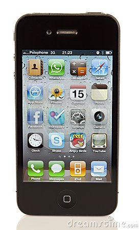 Isolated iPhone 4 Editorial Stock Photo