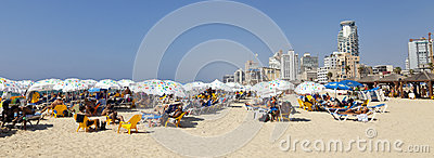 Summer at the Beach in Tel-Aviv Israel Editorial Photo
