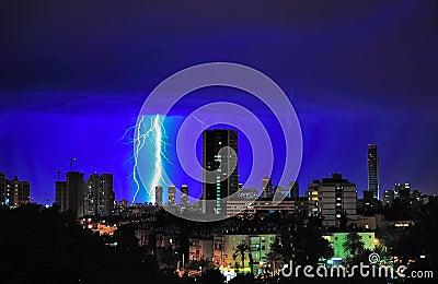 Tel Aviv Lightning Storm, Israel