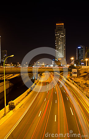 Tel Aviv by night Editorial Image