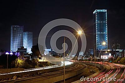 Tel Aviv at night, Israel