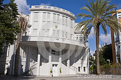 Tel-Aviv old city hall Editorial Photo