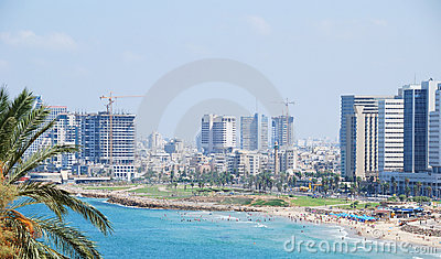 Tel Aviv Skyline Stock Photos - Image: 16933983