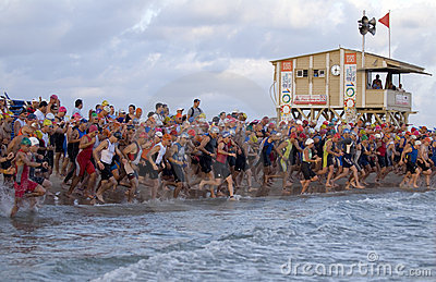 Tel Aviv triathlon Editorial Stock Photo