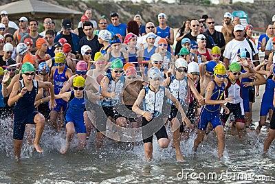 Tel Aviv triathlon - kids Editorial Photography