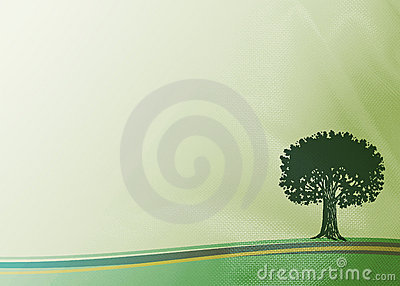 Tela con el árbol